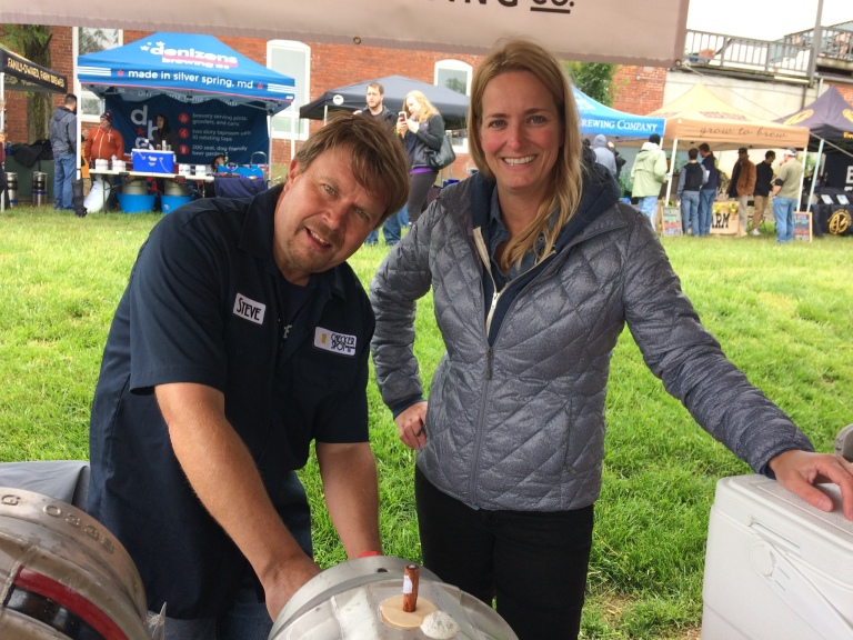 Stephen Marsh and Judy Neff, Checkerspot Brewing, Maryland Craft Beer Festival 2017