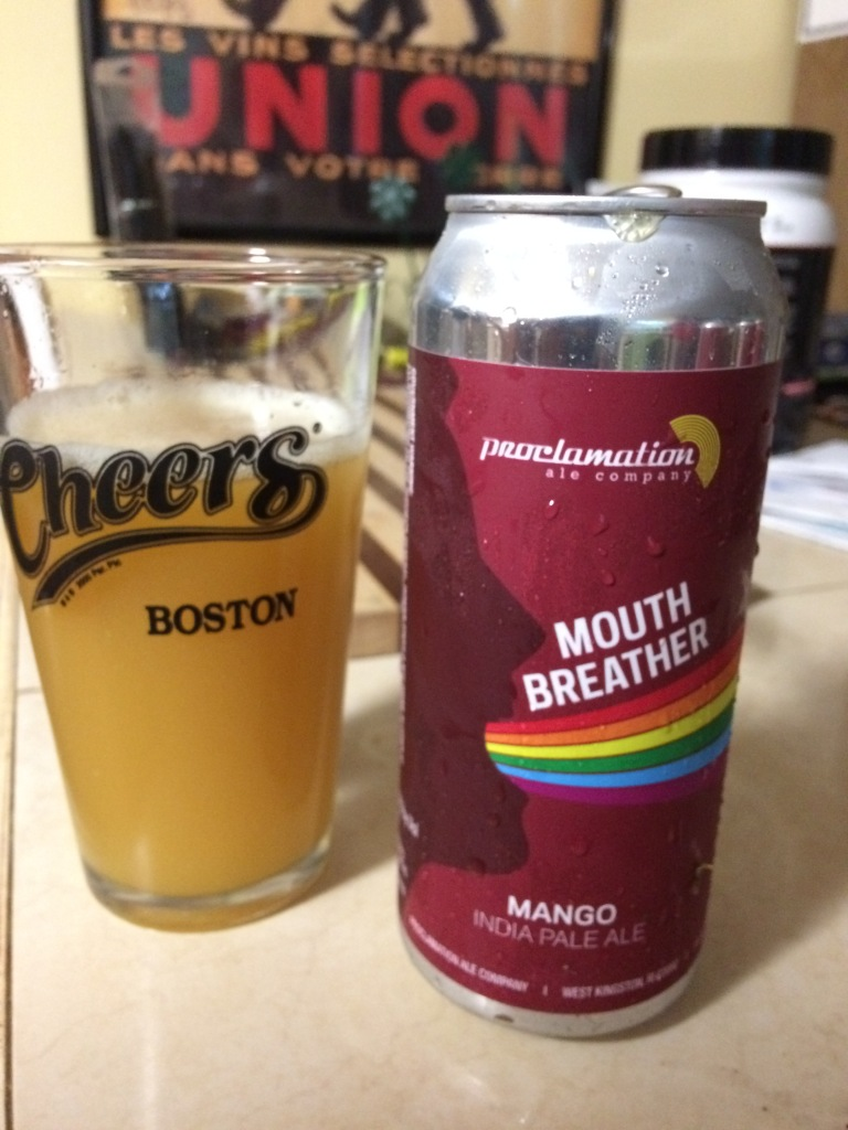 Mouth Breather Mango IPA, Proclamation Ale, West Kingstown RI