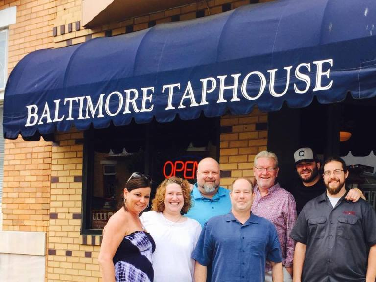 John and Kristen Bates with Taphouse Crew