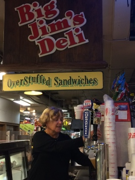 Anna Epsilantis, Big Jim's Deli, Cross Street Market, Baltimore (Photo: Baltimorebeerbaron.com)